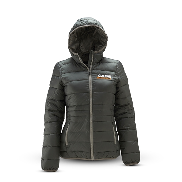Picture of Ladies Hooded Quilted Jacket