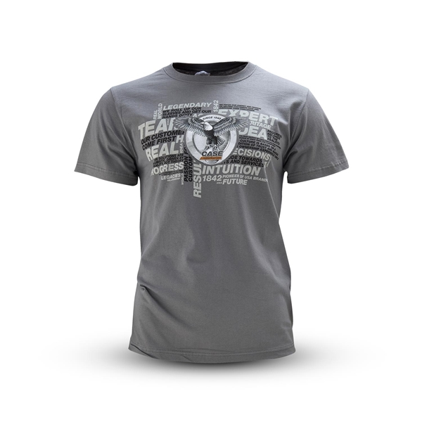 Picture of T-Shirt, man, grey, wording